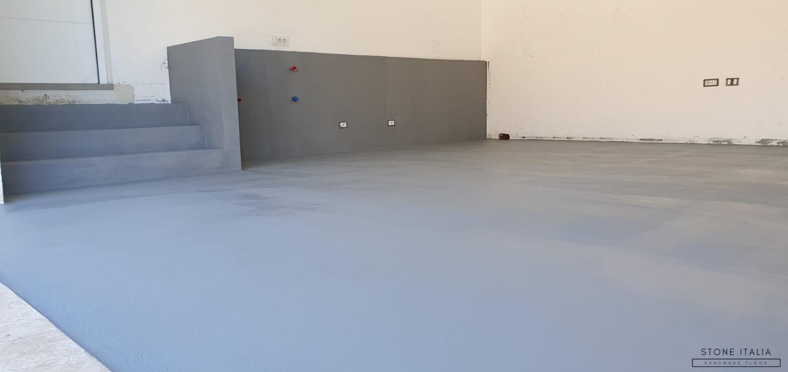 Pavimento in microcemento bicomponente