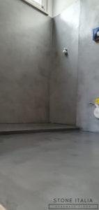 Microcemento bicomponente Colore Grigio Acciaio Finitura satinata